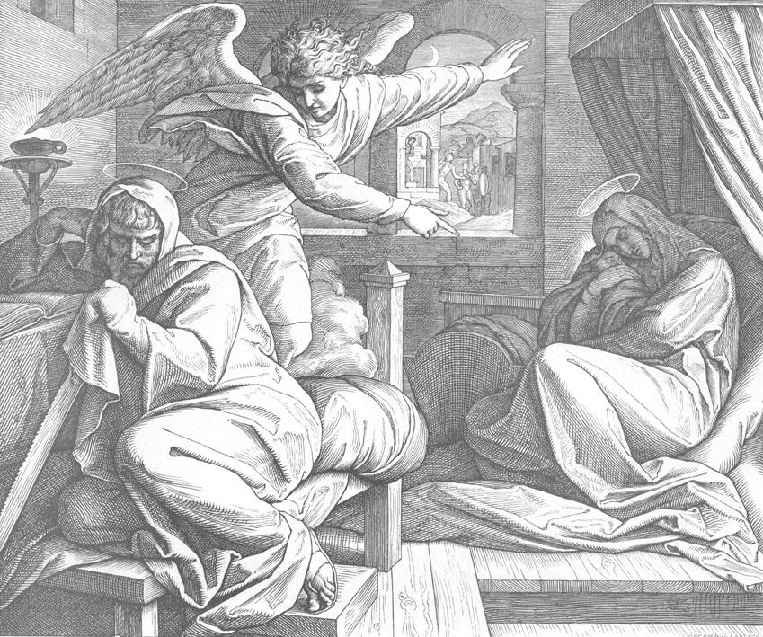 Ангел является во сне Иосифу