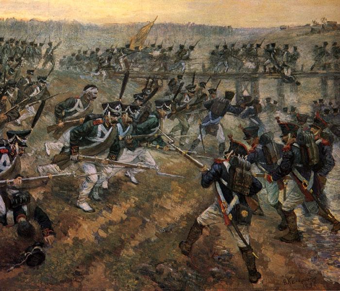 Атака гвардейских егерей и матросов