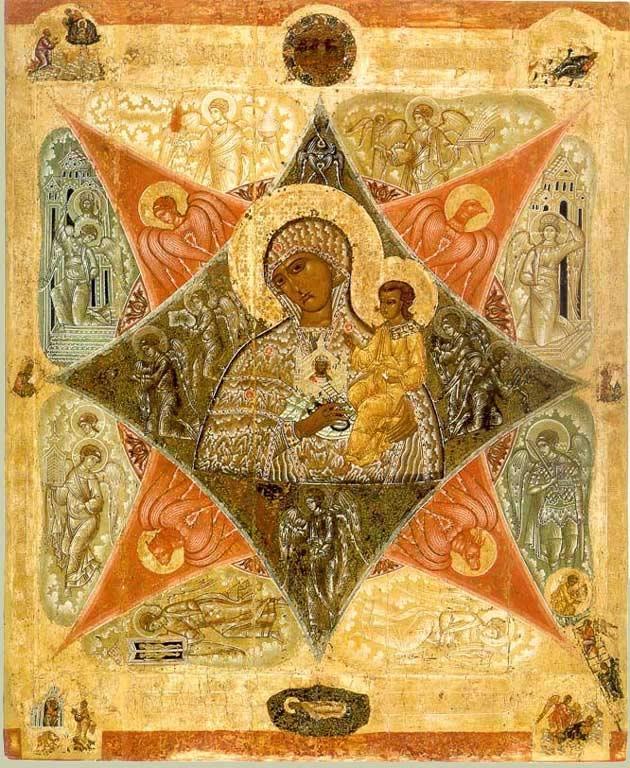 Богоматерь Неопалимая Купина. Конец XVI века. Соловецкий монастырь