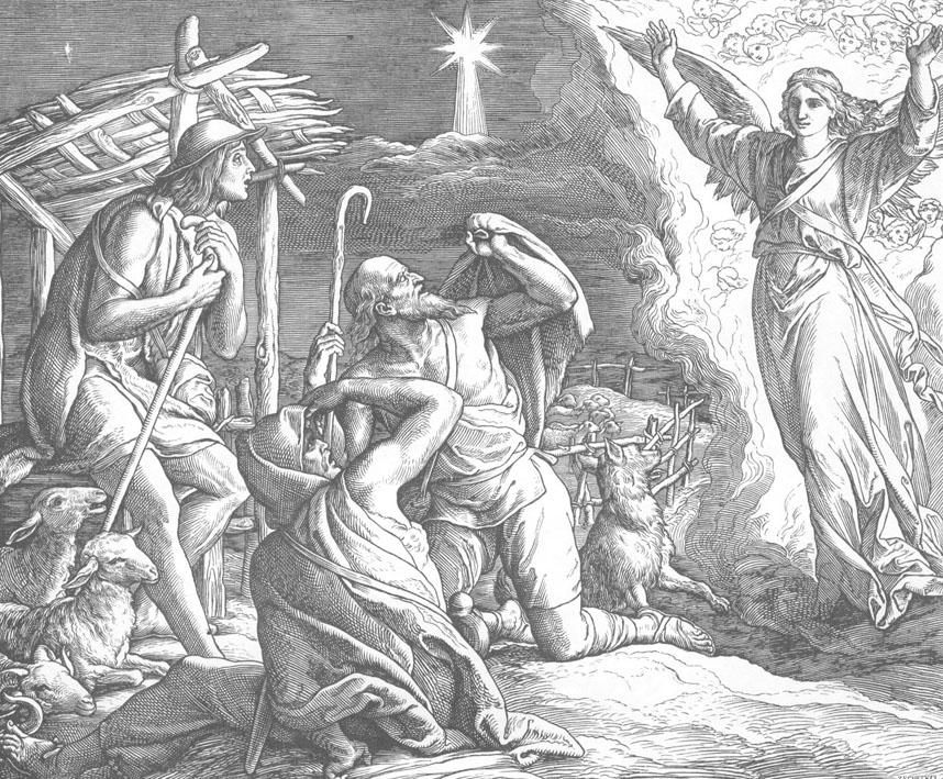 Возвещение пастухам о рождении Иисуса Христа
