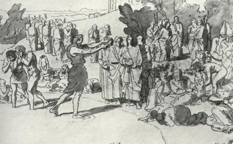 Иванов. Проповедь Иоанна Крестителя. 1850-е