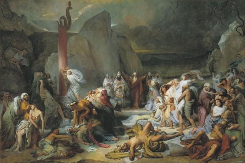 Медный змий. Картина Ф.А. Бруни