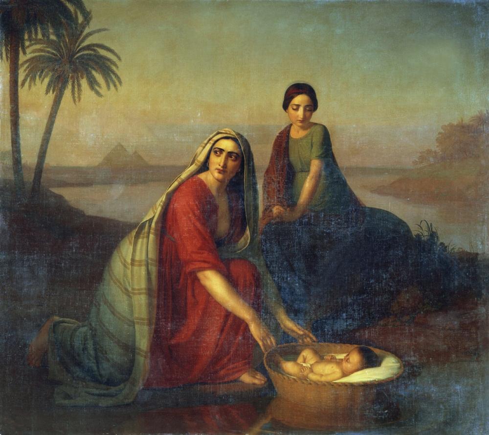 Моисей, опускаемый матерью на воды Нила