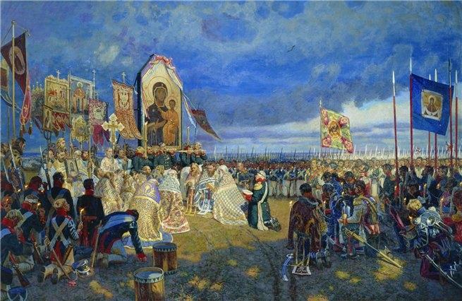 Молебен на Бородинском поле