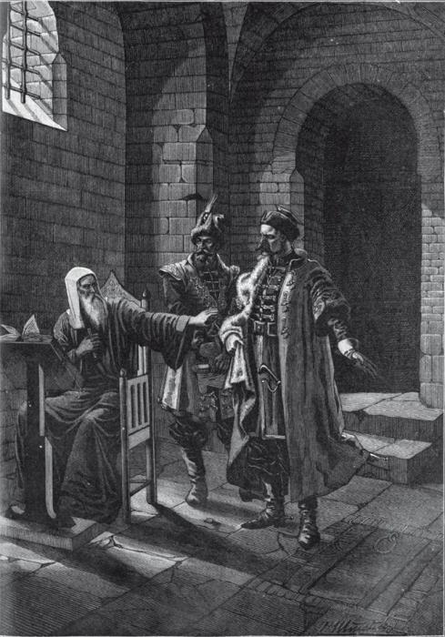 Патриарх Гермоген в темнице Чудова монастыря (февраль 1612 г.)