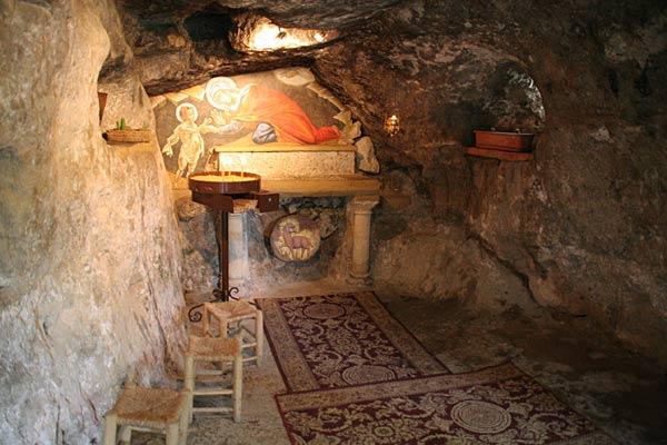 Пещера, где скрывалась св. Елисавета с младенцем Иоанном Предтечей