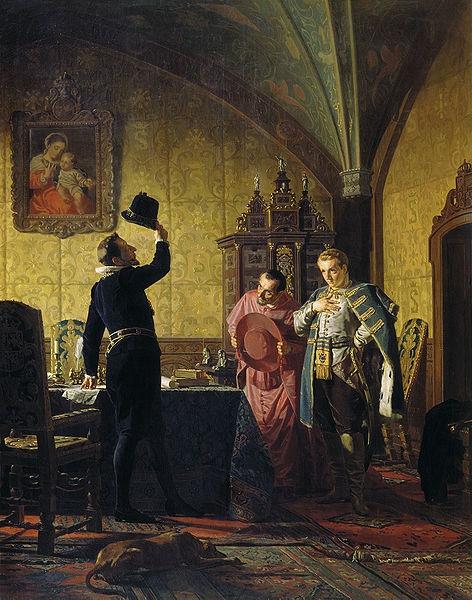 Присяга Лжедмитрия I польскому королю Сигизмунду III на введение в России католицизма