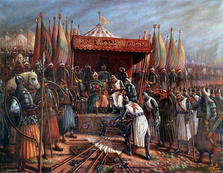 Саладин и Ги де Лузиньян после битвы