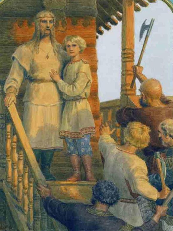 Первые русские мученики Федор и Иоанн перед гибелью