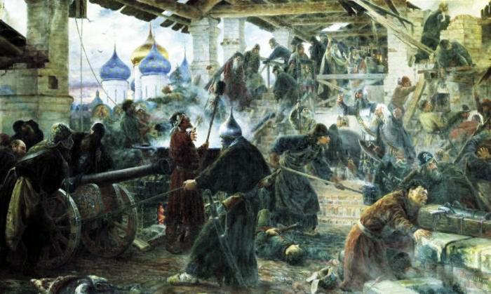 С.Д. Милорадович. Оборона Троице-Сергиевой лавры