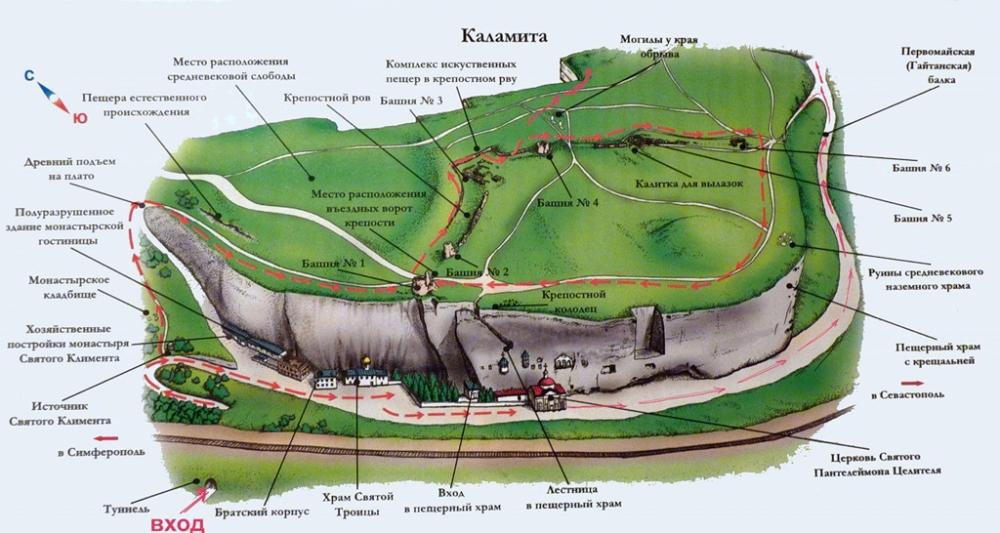 Инкерман, план-схема древней