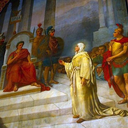 Мария Магдалина у императора Тиберия