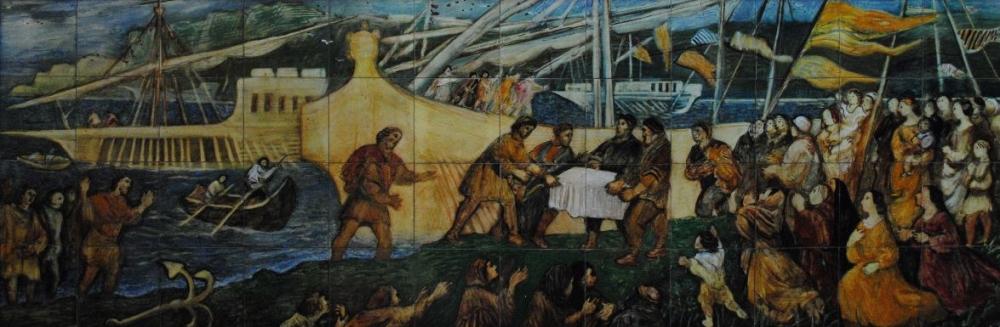 Перенесение свв. мощей апостола Фомы в Ортону с острова Хиос