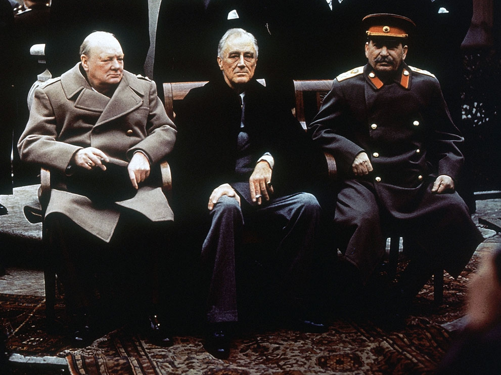 the three big people who led the yalta treaty Get an answer for 'how did the yalta conference lead to the cold the agreement said that the people would be able to what did the big three decide to do.