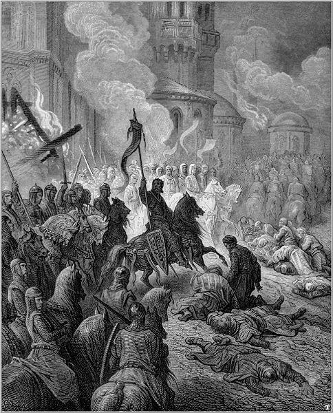 Вступление крестоносцев в Константинополь 13 апреля 1204 г.