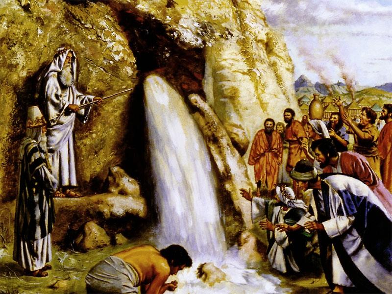 Моисей открывает родник в скале
