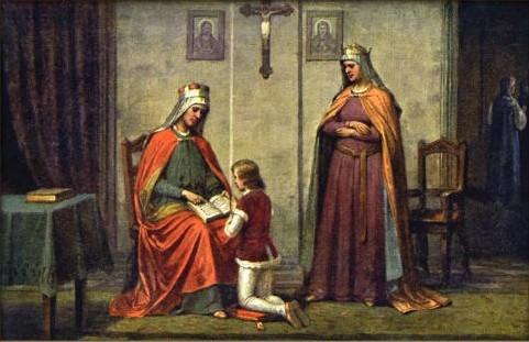 Княгина Драгомира, святой Вацлав и святая Людмила