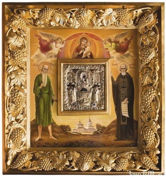 Икона Положения честной Ризы Пресвятой Богородицы во Влахерне (с частичкой Ризы)