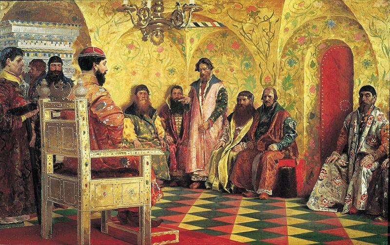 Михаил Фёдорович на собрании боярской думы