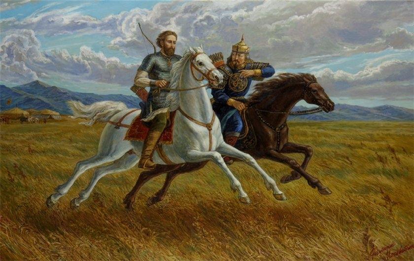 Александр Невский и Сартак в Орде