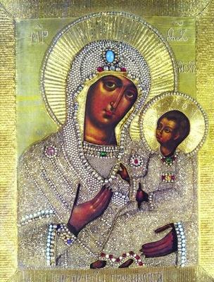 Икона Грузинской Божией Матери в Храме Воскресения Христова в Сокольниках