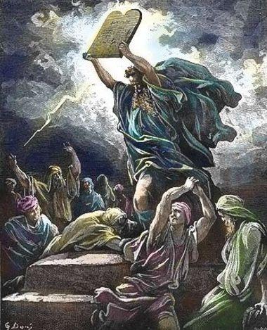 Моисей разбивает скрижали закона