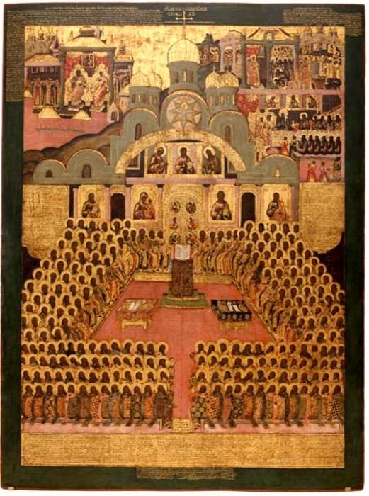 Седьмой Вселенский Собор. Икона XVII век. Новодевичий монастырь