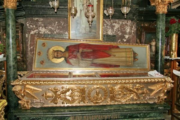 Мощи святой Варвары